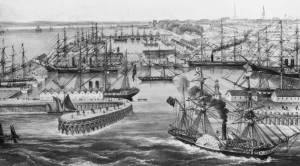 An Early image of Southampton Docks